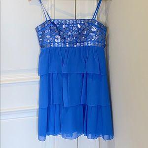 BCBG Maxazria Tiered Silk Cocktail Dress size 6